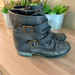 Dolce Vita Distressed Combat Boots - Women's 6.5